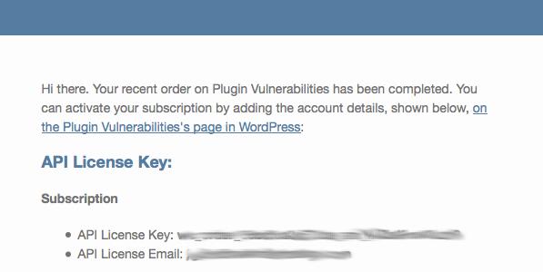 API Details Email