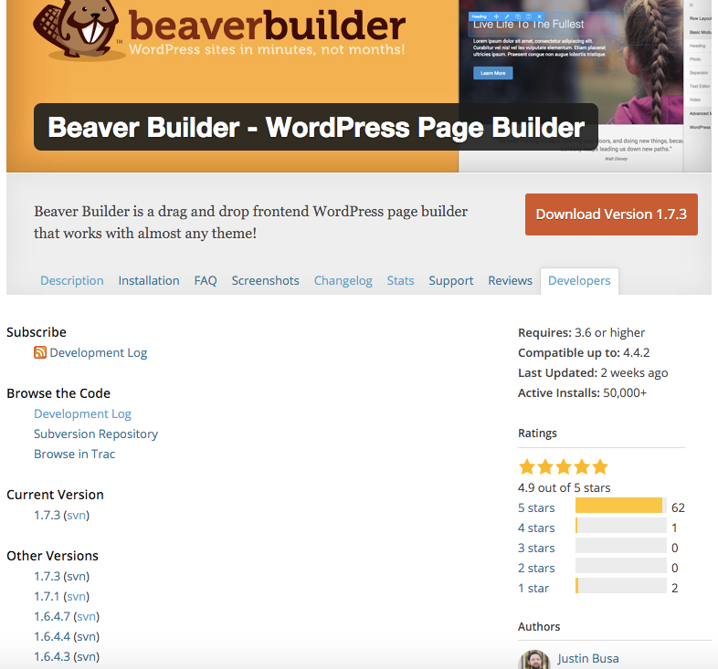 Beaver Builder Lite Versions