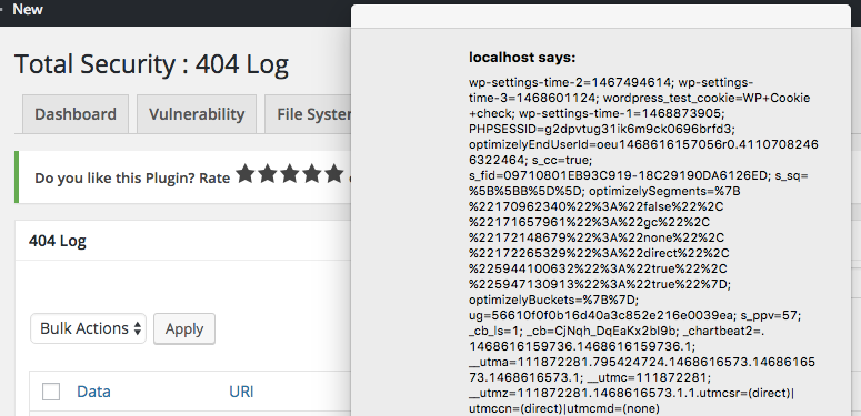 wordfence-stored-xss-test-result