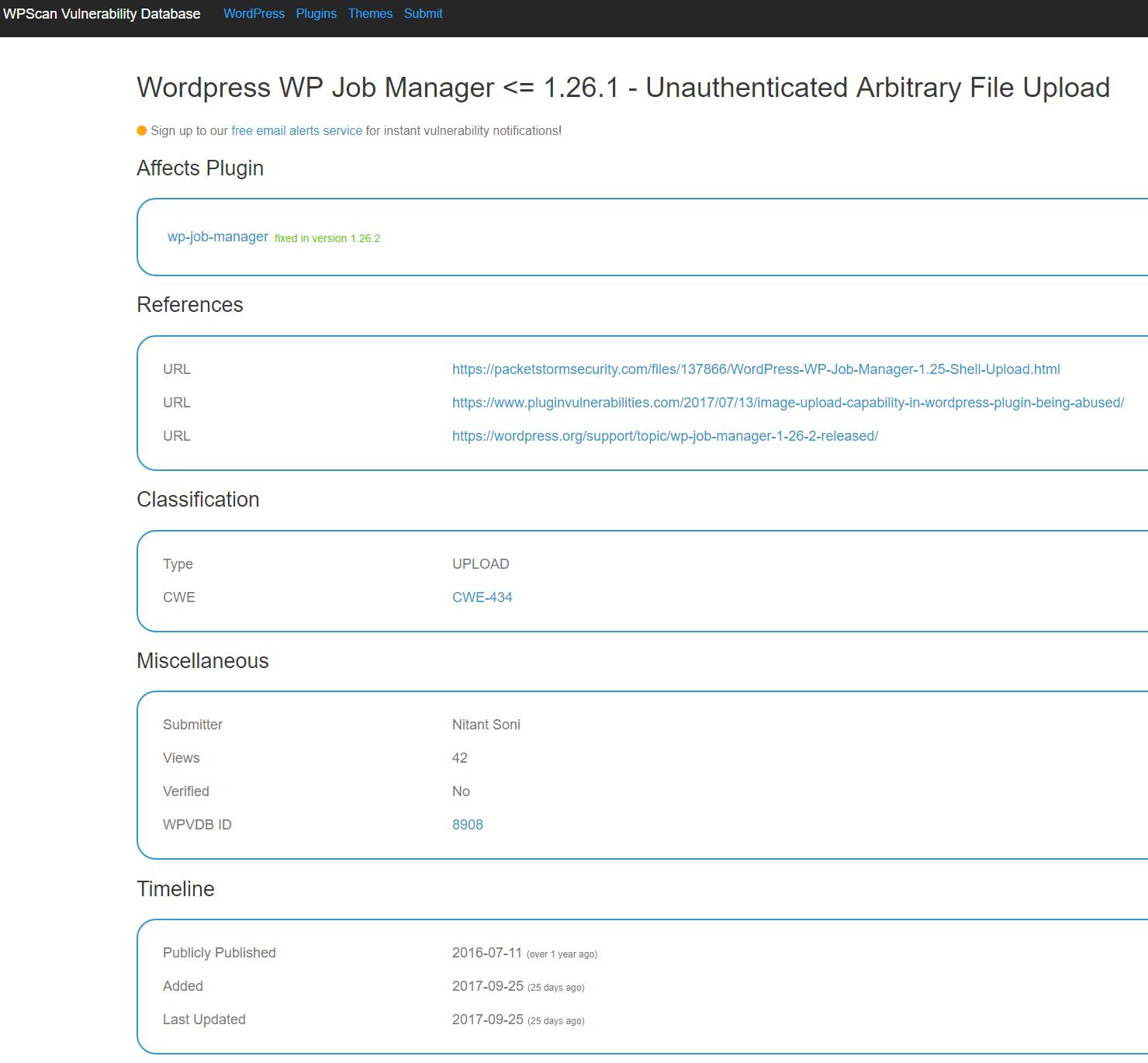 Wp Job Manager Plugin Vulnerabilities